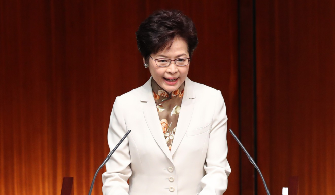Hong Kong policy address by Chief Executive Mrs Carrie Lam